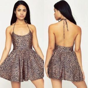 American Apparel Leopard Print Skater Dress